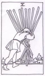 Vedeževalske tehnike: Vedeževanje in razlaga tarot karte desetica palic