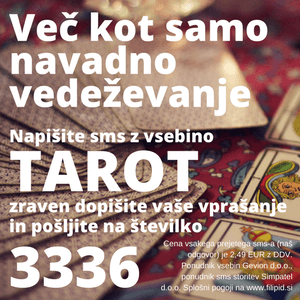 sms vedeževanje tarot na 3336